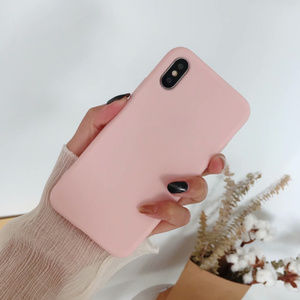 Accessories - Solid Pink iPhone Case slim 7 8 Plus X XS XR Max